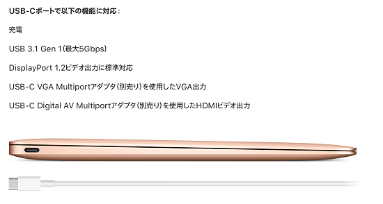 MacBookの拡張性